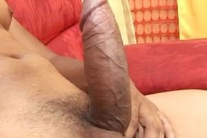 Latin guy takes his big shaft in his hands and plays with it until he is good to splash his goo everywhere.